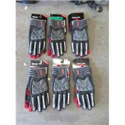 6 Pairs of BDG Drilling Gloves - Size XL