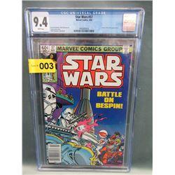 "Graded 1982 ""Star Wars #57"" Marvel Comic"