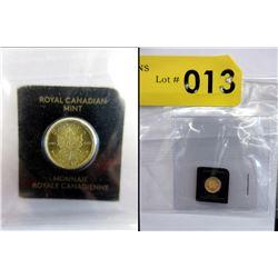1 Gram .9999 Fine Gold 2018 Canada Maple Leaf Coin