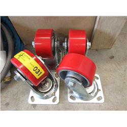 """Set of 4 New 4"""" Casters"""