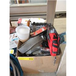 Box of Assorted Hand & Power Tools