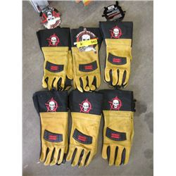 6 Pairs of Large Anarchy Welding Gloves