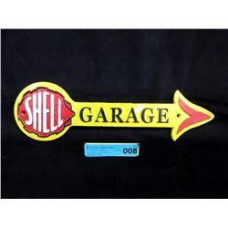 Cast Iron Shell Garage Sign