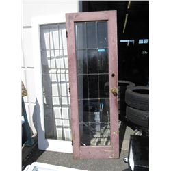 Pair of Vintage Lead Glass French Doors