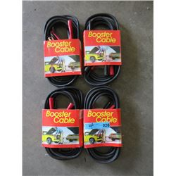 4 New Booster Cable Sets