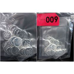 30 One Gram .999 Silver Skull & Crossbones Rounds