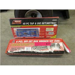 New Tap & Die Set and Off-Set Box Wrench Set