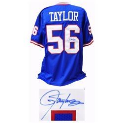 Lawrence Taylor Signed Blue Throwback Custom Football Jersey