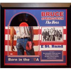 "Bruce Springsteen and E Street Band ""Born In The USA"" Signed Album Collage"