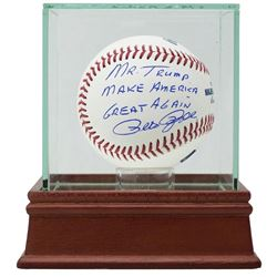 Pete Rose Signed Baseball w/ MAGA Inscription