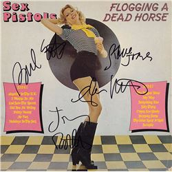 Sex Pistols Band Signed Flogging A Dead Horse Album