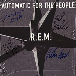 R.E.M. Band Signed Automatic For The People Album