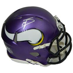 Stefon Diggs Signed Minnesota Vikings Riddell Speed Mini Helmet