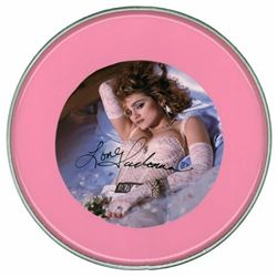 Madonna Signed Pink Drum Head