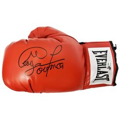 George Foreman Signed Everlast Red Full Size Boxing Glove
