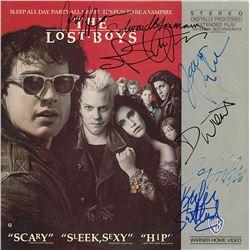 The Lost Boys Cast Signed Movie Laserdisc Album