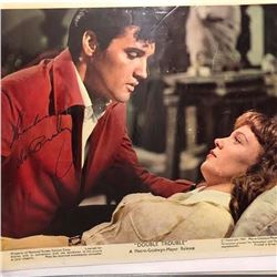 """Elvis Presley """"Double Trouble"""" Signed Lobby Card"""