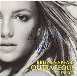 Britney Spears Signed Outrageous Remixes Album