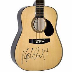 Rod Stewart Signed Natural Johnson 1990s J6-610-N1/2 Junior Acoustic Guitar