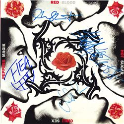 Red Hot Chili Peppers Band Signed Red Blood Album