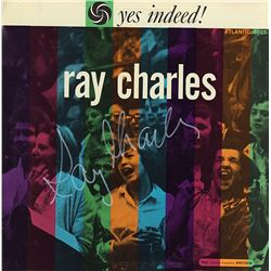 Ray Charles Signed Yes Indeed! Album
