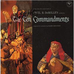 The Ten Commandments Cast Signed Movie Soundtrack Album