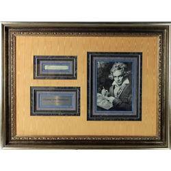 Ludwig Van Beethoven Signature Cut Collage