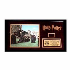 Framed Piece of Harry Potter Prop Broom Collage