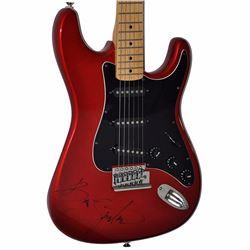 Bruce Springsteen Signed Red Metallic 1980s Phantom Vintage Guitar
