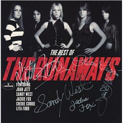 The Runaways Band Signed The Best Of The Runaways Album