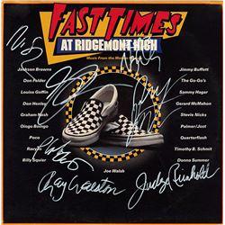 Fast Times At Ridgemont High Cast Signed Movie Soundtrack Album