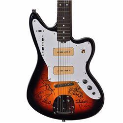 The Who Band Signed Fender Sunburst Jaguar Vintage Styled Electric Guitar
