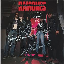 The Ramones Band Signed Halfway To Sanity Album
