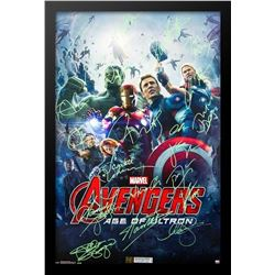 Avengers: Age of Ultron Cast Signed Movie Poster