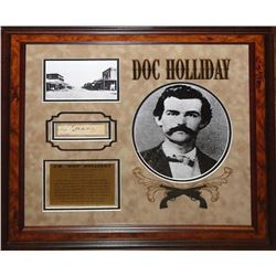Doc Holliday Signed Photo Collage