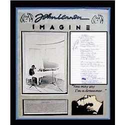 John Lennon signed Lyrics Collage