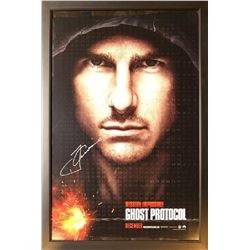 """Tom Cruise """"Mission: Impossible Ghost Protocol"""" Signed Poster"""