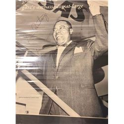Louis Armstrong Signed 11x14in Poster