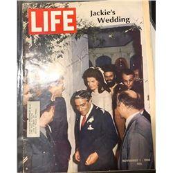 Jackie Kennedy Signed Life Magazine