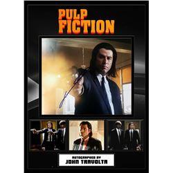 John Travolta Signed Pulp Fiction 'Shooter' Photo