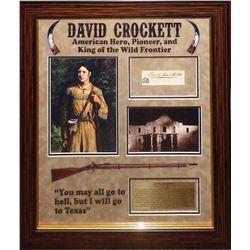 David (Davy) Crockett signed Collage