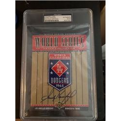 PSA/DNA Sandy Koufax Signed 1965 Dodgers World Series Patch