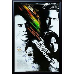FAST AND FURIOUS Signed Movie Poster