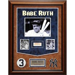 Babe Ruth Framed Signature Collage