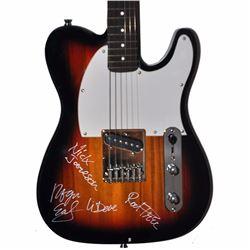 Foghat Band Signed Dark Sunburst Telecaster Styled Guitar