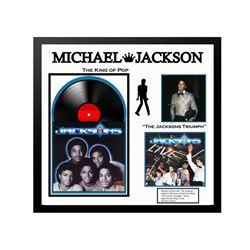 "Micheal Jackson ""The Jackson Triumph"" Signed Album Collage."