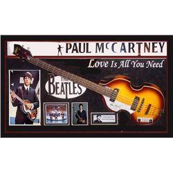 Paul McCartney signed Guitar Collage