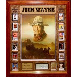John Wayne signed Collage