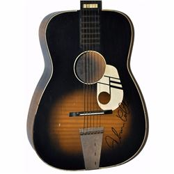 John Coltrane Signed Darkened Sunset 1950 – 1960s Kay Musical Note Vintage Acoustic Guitar