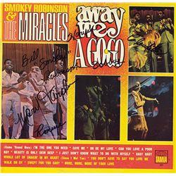 Smokey RobinsonAnd The Miracles Band Signed Away We Go-Go Album